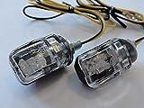 Ma-Mor Motorrad Mini Blinker LED schwarz klar E-geprüft M6 für z.B. Honda, Yamaha, Suzuki, Aprilia, Harley, BMW, Kawasaki