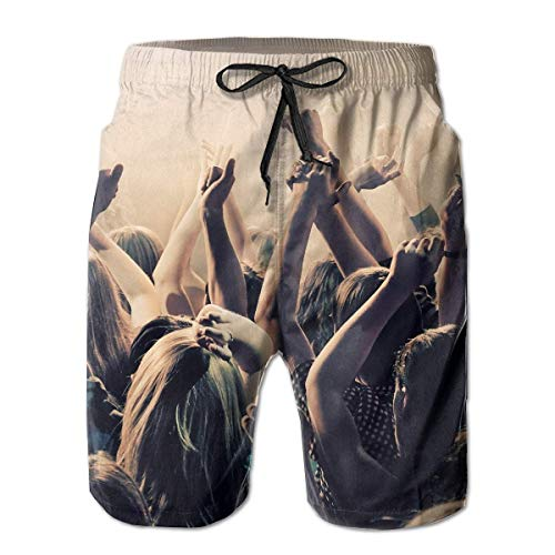 Men's Shorts Pockets Swim Beach Trunk Summer Rock Athletic,Quick Dry Beach Board Shorts Summer Swim Trunks for Boy Swimming Large -