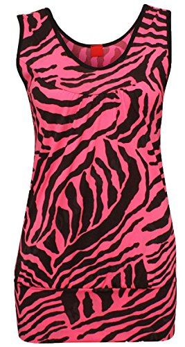 Janisramone Nuovo Da Donna Zebra Stampa Top leggings set elastico Vest Top Bottom Playsuit ZEBRA (Zebra Leggings Set)