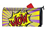 Wow Comic Printed Mailbox Covers Magnetic Mailbox Makeover 21x18 inch