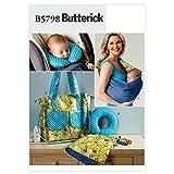 Butterick Baby einfach Schnittmuster 5798–Wickelunterlage, Nackenstütze, Carrier & Wickeltasche