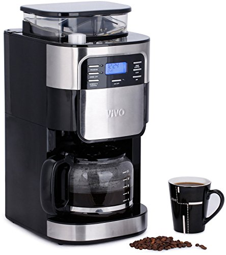 Vivo © 1.5L Bean to Cup Digital Filter Coffee Maker Machine