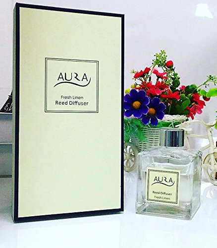 Luxus Aroma Diffuser mit 10?Rattanst?bchen, 120?ml, Fresh Linen