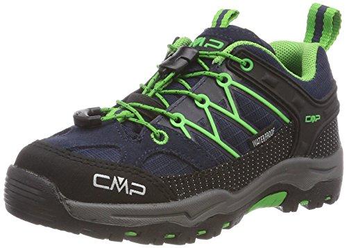 CMP Campagnolo Unisex-Kinder Rigel Trekking-& Wandersandalen, Blau (Nero/Green 51AK), 35 EU