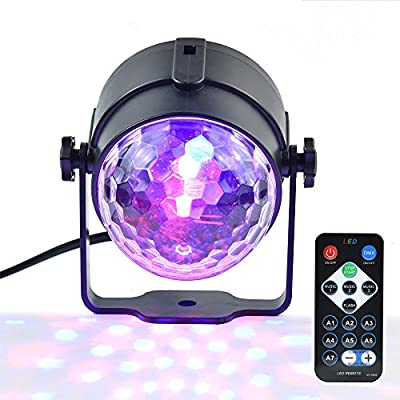 Party Lights,Sound Activated DJ Disco Lights Stage Light 3W 7 Modes RGB LED Disco Ball lights with Remote Control for Home Outdoor Holidays Dance Parties Birthday DJ Bar Wedding Show Club Pub from inno