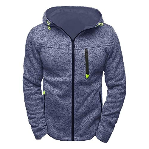 SANFASHION Pullover Herren Kapuzenpulli Reißverschluss Slim Hoodies Sweatshirts Pullover Mantel Jacke Streetwear