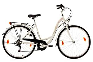 KS Cycling Damen Fahrrad Eden RH 48 cm, Weiß, 28, 444B