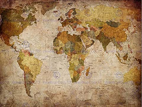 MAP GLOBE WORLD ATLAS ANTIQUE STYLE MODERN LAYOUT ART PRINT AFFICHE POSTER MP3674B