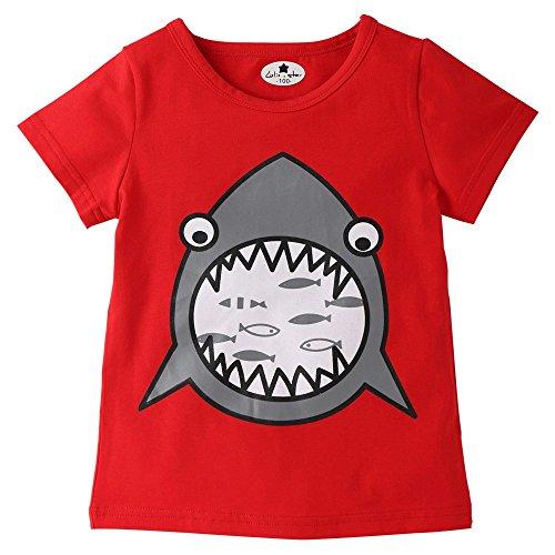 Diath Kinderbekleidung Overalls FüR Baby, Cartoon Brief Drucken Hai Print Short Sleeve Tops T Shirt Tees ()