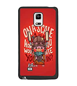 PrintDhaba Cartoon D-4020 Back Case Cover for SAMSUNG GALAXY NOTE 4 (Multi-Coloured)
