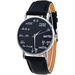 Sunnywill Frauen Mädchen Damen Schöne Mode Band Analog Quarz Vogue Muster PU Leder Uhren für Weibliche Studenten