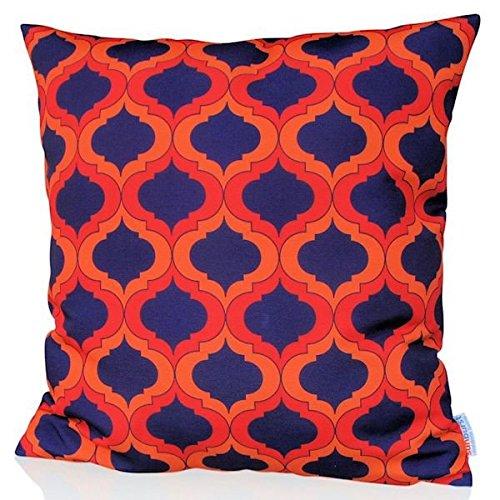 Sunburst Outdoor Living 45cm x 45cm WHISPER Federa decorativa per cuscini per divano, letto, sofà o da esterni - Solo federa, no interno