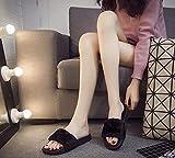 Warlock Black Fur Comfortable Slippers |Womens Flipflop |Womens Fancy Slippers | Light Weight |Girls