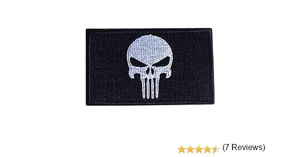 Noir MMRM Swat Punisher Cr/âne Militaire Patch Tactique Bande de Style Arm/ée Badge Brassard