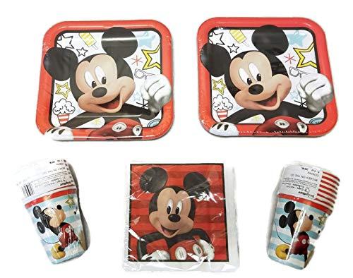 Mickey Mouse On The Go Party-Set 22,9 cm Teller (16) Becher (16) Servietten (16) (Supplies Birthday Party Doc Mcstuffins)