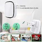 Campanello-Senza-Fili-Impermeabile-Wireless-Doorbell-Con-Raggio-dAzione-300m-Indicatore-LED-1-Trasmettitore-Pulsante-e-1-Ricevitore-Con-Spina-Incorporata-36-Suonerie-4-Volume-Regolabile