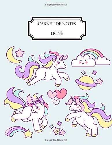 Carnet de notes lign: A4 - Grand format - 160 pages lignes - Licorne