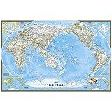 Weltkarte Classic politisch Pazifik zentriert, großes Format: NATIONAL GEOGRAPHIC Weltkarten (Reference - World)