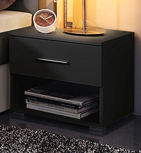 Rauch Nachtkonsole mit 1 Schubkasten Grau-Metallic Nachttisch