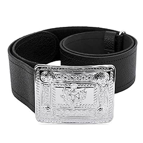 Celtic Knot Thistle Buckle and Kilt Belt Set