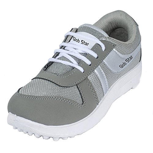 Bersache Men's Grey Sports Shoes (Running Shoes) (10 UK)  available at amazon for Rs.198