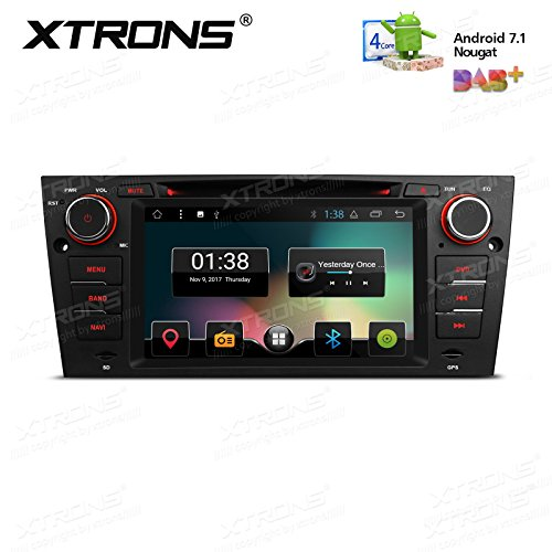 XTRONS 17,8 cm Android 7.1 Quad Core Kapazitive Touchscreen Autoradio DVD Player Screen Mirroring Funktion OBD2 DVR für BMW E90 (Dvd-dvr-player)