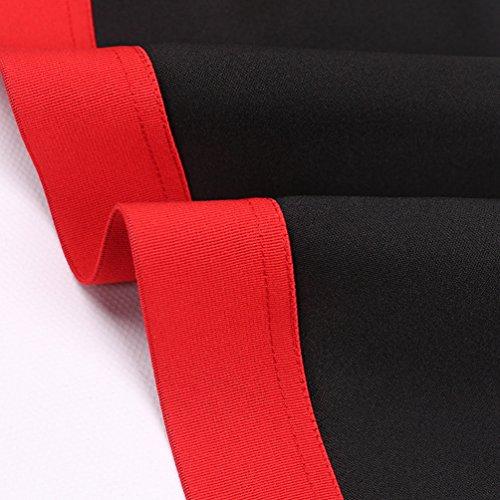 Yiiquan Donna Crop Top Maniche Lunghe Hoodies Sweatshirt con Cappuccio Cuciture Geometriche Nero