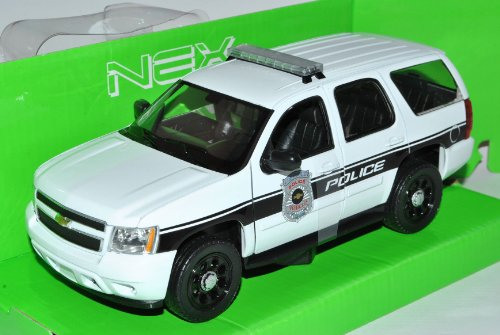 Welly Chevrolet Chevy Tahoe SUV Weiss Police Ab 2006 1/24 Modell Auto