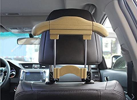 Dbtxwd Car Imitation leather Stainless steel hangers Inside the car Place the hook Seat Chair back Multifunction Suit Retractable hanger 25*21cm ,