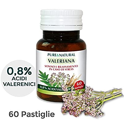 PURE AND SUPER CONCENTRATED VALERIAN IN TABLETS, TO PROMOTE RELAXATION. Supplement 100% natural and safe, notified to the Italian Ministry of Health. from Naturalma srl