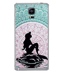 PrintVisa Designer Back Case Cover for Samsung Galaxy Note 4 :: Samsung Galaxy Note 4 N910G :: Samsung Galaxy Note 4 N910F N910K/N910L/N910S N910C N910Fd N910Fq N910H N910G N910U N910W8 (Cool sky blue Background Black Jalpari)