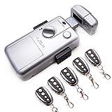 Cerradura electrónica inteligente invisible con 5 mandos para evitar la ocupacion y robo en su vivienda. Color Plata
