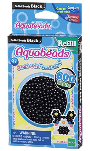 Aquabeads- Solid Beads, Color Negro (Epoch para Imaginar 32658)