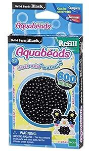 Aquabeads- Solid Beads, Color Negro (Epoch para Imaginar 32658)