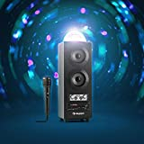 auna DiscoStar Blue PA-Anlage Bluetooth-Lautsprecher (Lichteffekte, Fernbedienung, Tragegriffe, Akku-Betrieb, Radio, MP3, SD, AUX, 1 Mikrofon) schwarz - 3