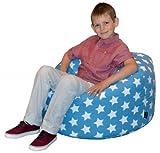 CHILDRENS BEANBAG - BLUE STARS Bean bag Chair