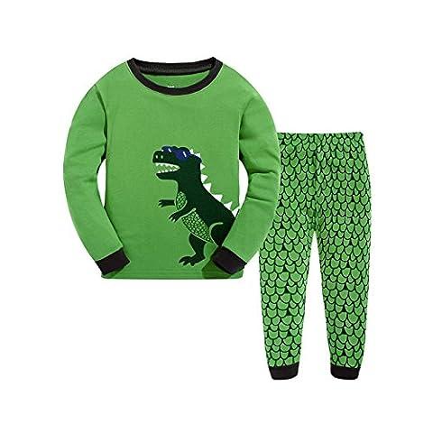 Tkria Baby Kinder Jungen Bekleidung Langarm zweiteilige Schlafanzug dinosaurier Kinderkleidung Set 92 98 104 110 116