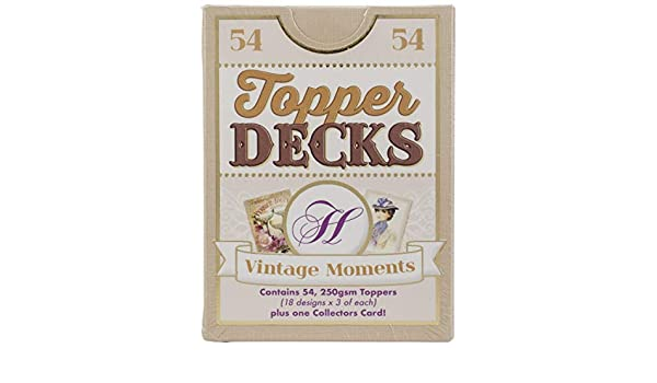 54 x 250gsm Cards Hunkydory VINTAGE MOMENTS Topper Decks 18 Designs DECK004