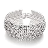 #6: Yellow Chimes Crystal Spark Belt Bracelet for Women (White)(YCSWBR-BC01-WH)