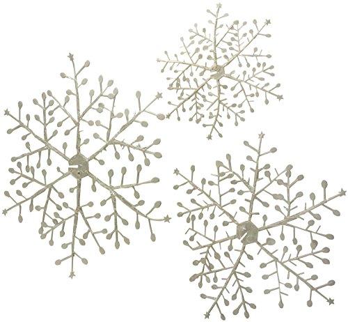 Toyland 3 x 3. Schneeflocke-Aufhänger Für Eingefrorene Themed Parteien (PM156)