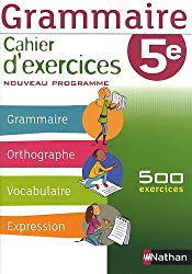 Grammaire 5e : Cahier d'exercice