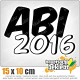 Abi 2016 15 x 10 cm In 15 Farben - Neon + Chrom! JDM Sticker Aufkleber