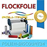 (EUR 25,80 / Quadratmeter) FLOCKFOLIE Light Blue 505 BÜGELFOLIE TOP ! Preistip Flex Flock 1 M x 50 cm