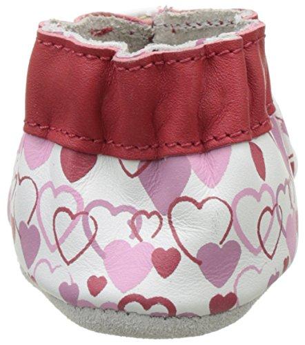 Robeez Valentine, Chaussures de Naissance Bébé Fille Rouge (Rouge)