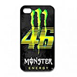 Coque Apple IPhone 4 4S,Valentino Rossi VR46 the Doctor Coque Silicone Gel Thin...