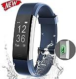 Fitness Trackers Slykeers Wasserdicht IP67 für Damen Kinder und Herren, Fitness Armband Uhr, Herzfrequenz, GPS, Schwimmen, Pulsuhren, Smart Armbanduhr, Kalorienzähler, Schrittzähler, Schlafmonitor, Whatsapp SMS Anruf für Android und iPhone Handy