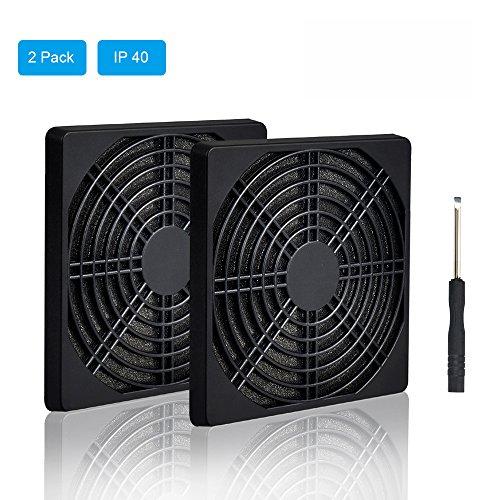 ELUTENG Staubfilter für 120mm Lüfter 3 in 1 Lüfterabdeckung 12cm Ventilator Gitter Gehäuselüfter Dust Filter für PC Fan 2 Stücke in Schwarz USB Lüfter Deckung
