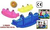 Dondolo giardino 3 posti 3 bambini gioco per bambini peso Max 90Kg 47-509