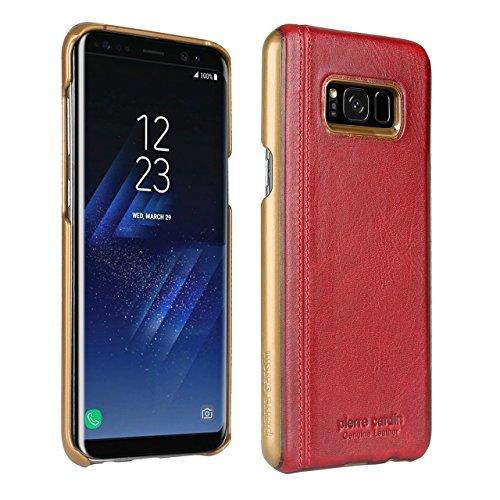 Samsung Galaxy S8 Plus Hülle, Pierre Cardin Premium Luxuriöser italienischer echtem Rindsleder Rückseitige Hartgehäuseabdeckung für Samsung Galaxy S8 Plus(2017), (Pierre Cardin Kostüme)
