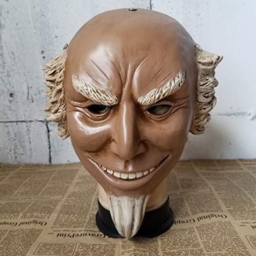 LXF Máscara de Halloween del tío Sam's Old Man, Horror Haunted House Bar Dance Coplay Resina Máscara de Halloween Máscara